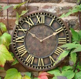 Antique Rust Effect Outdoor Garden Clock 31 Cm 12 2 Quot 163