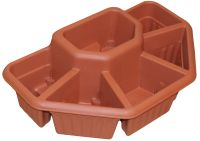 "Ornamental Terrace Sectioned Planter in Terracotta - W60cm (23½"")"