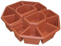"Ornamental Terrace Sectioned Planter in Terracotta - Set of 2 -  W60cm (23½"")"