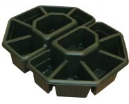 "Ornamental Terrace Sectioned Planter in Forest Green - Set of 2 -  W60cm (23½"")"
