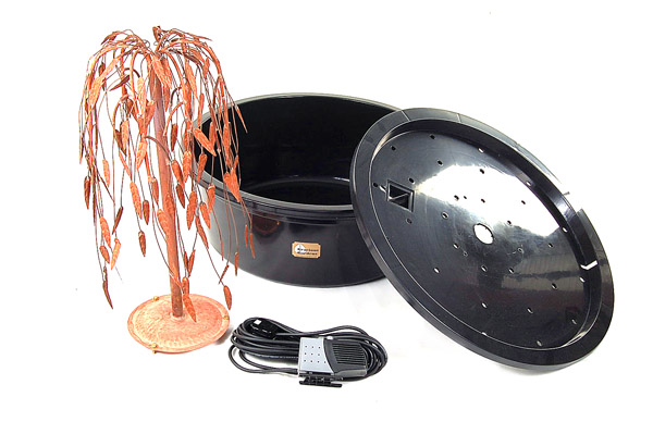 Weeping Willow Copper Tree Cascade Water Feature by Ambient�