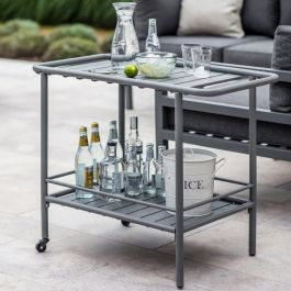 Steel Drinks Trolley in Charcoal