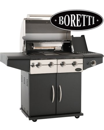 Supagrill Boretti Da Vinci 4 Burner Gas Barbecue with Infrared Rotisserie and Side Burner H123cm x W136cm