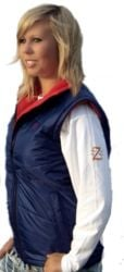Deluxe Heated Waistcoat Blue and Red