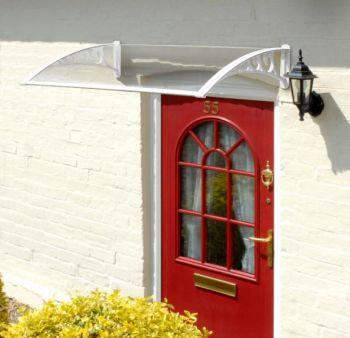 Door Canopy - White