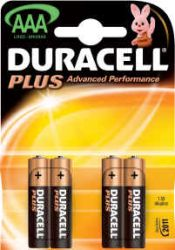 1x Duracell Plus AAA Battery