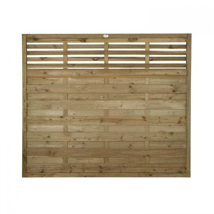 6ft x 5ft Fence Panel Pack of 3 - Pressure Treated Decorative Kyoto