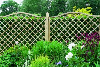 6ft x 6ft Garden Screen Pack of 3 - Pressure Treated Decorative Europa Hamburg