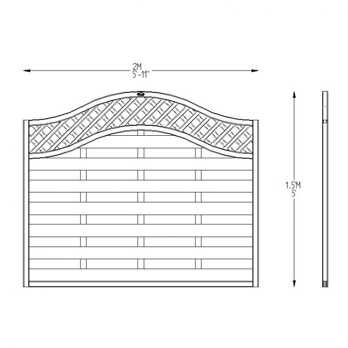 6ft X 5ft Fence Panel Pack Of 3 Pressure Treated
