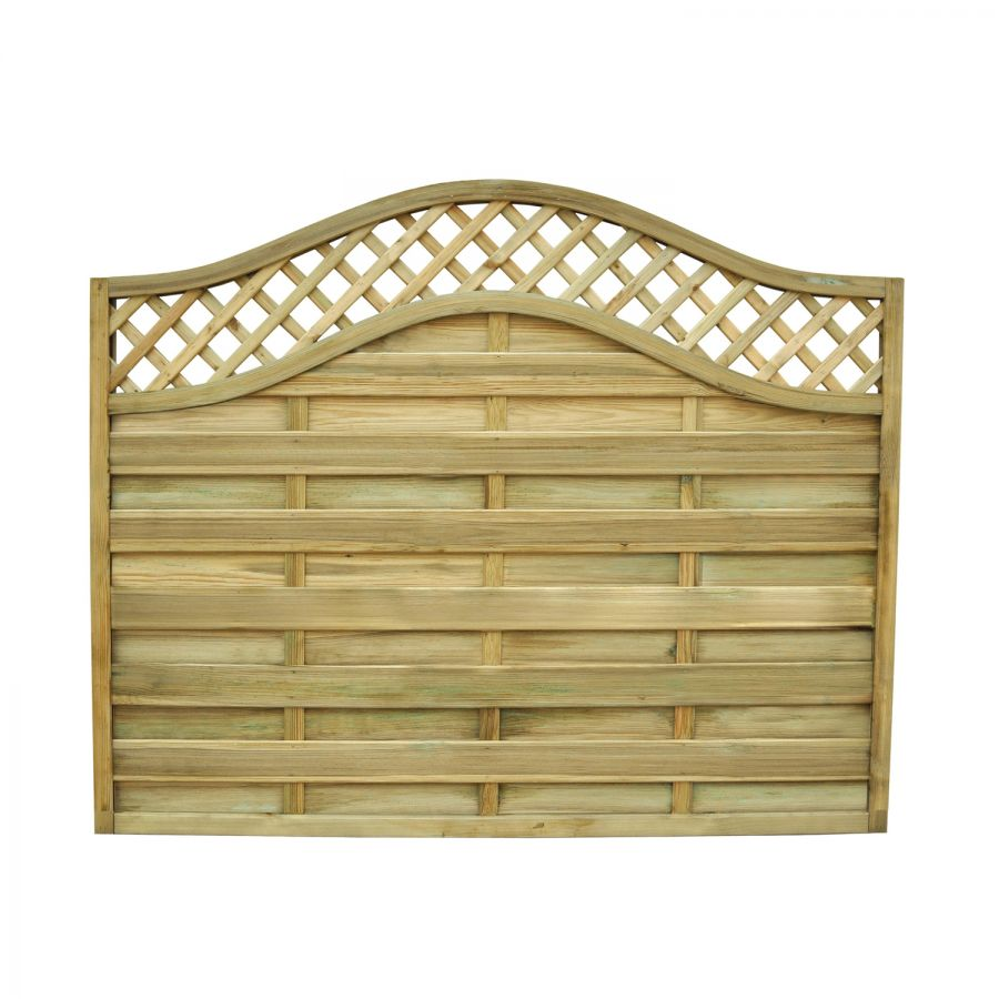6ft x 5ft Fence Panel Pack of 3 - Pressure Treated Decorative Europa Prague