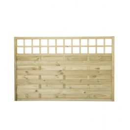 6ft x 3.8ft Fence Panel Pack of 3 - Pressure Treated Decorative Europa Montreal