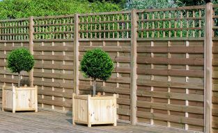 6ft x 6ft Fence Panel Pack of 3 - Pressure Treated Decorative Europa Montreal