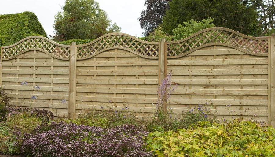 6ft x 6ft Fence Panel Pack of 3 - Pressure Treated Decorative Europa Prague