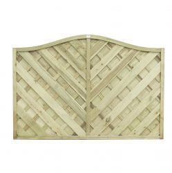 6ft x 4ft Fence Panel Pack of 3 - Pressure Treated Decorative Europa Strasberg