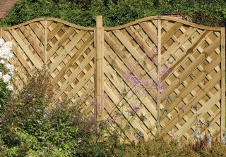 6ft x 6ft Fence Panel Pack of 3 - Pressure Treated Decorative Europa Strasberg