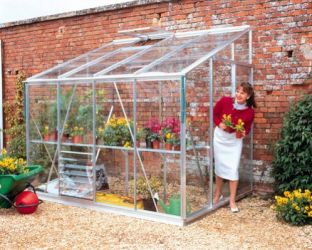 Eden Lean-To Aluminium Frame Greenhouse  12ft x 6ft Silver