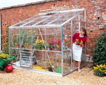 Eden Lean-To Aluminium Frame Greenhouse  12ft x 6ft Green