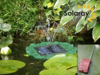 Lily solar fountain by Ambient� - Remote controlled with LED Lights