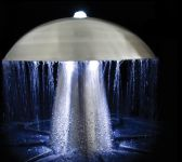 1ft Abbey Falls Stainless Steel Mushroom Water Feature with LED lights (Downward & Upward Lights)