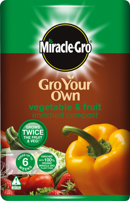 Miracle-Gro® Gro Your Own Vegetable & Fruit Enriched Compost - 50 Litres