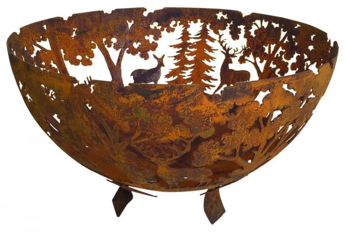 Fire Bowl, Woodland Scene - 57.5cm