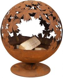 Fire Globe, Leaf Pattern - 57cm