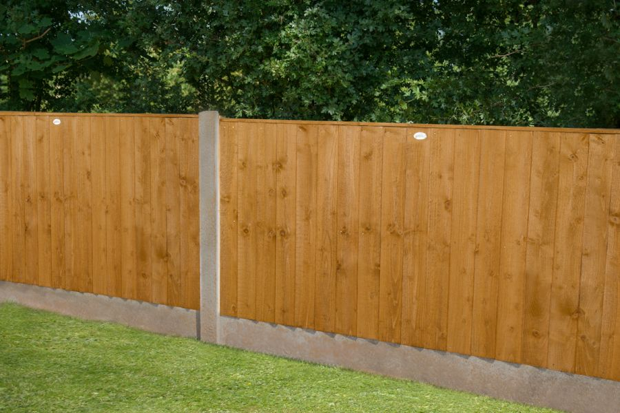 6ft x 3ft Featheredge Fence Panel - Pack of 3