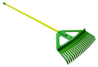 Combination Leaf Rake with Steel Handle by Lasher Tools