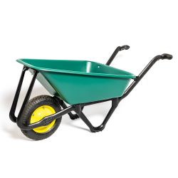 Ecobarrow with Black Nylon Frame and Pneumatic Wheel by Lasher Tools