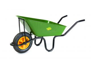 Falcon Wheelbarrow with Black Frame and Pneumatic Wheel by Lasher Tools