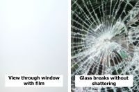 Matt White (Frost) Safety And Privacy Window Film Internal