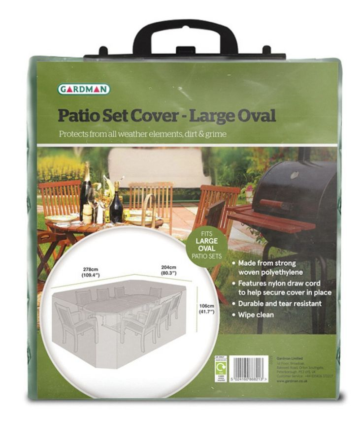Gardman Oval 278cm x 204cm Garden Patio Set Cover - Large