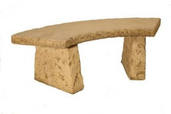Natural Finish Concrete Curved Bench L131cm