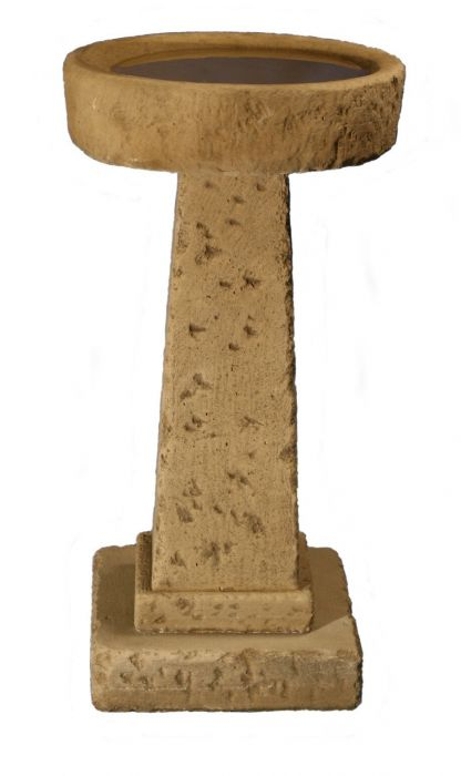 75cm Rustic Finish Small Deep Concrete Bird Bath