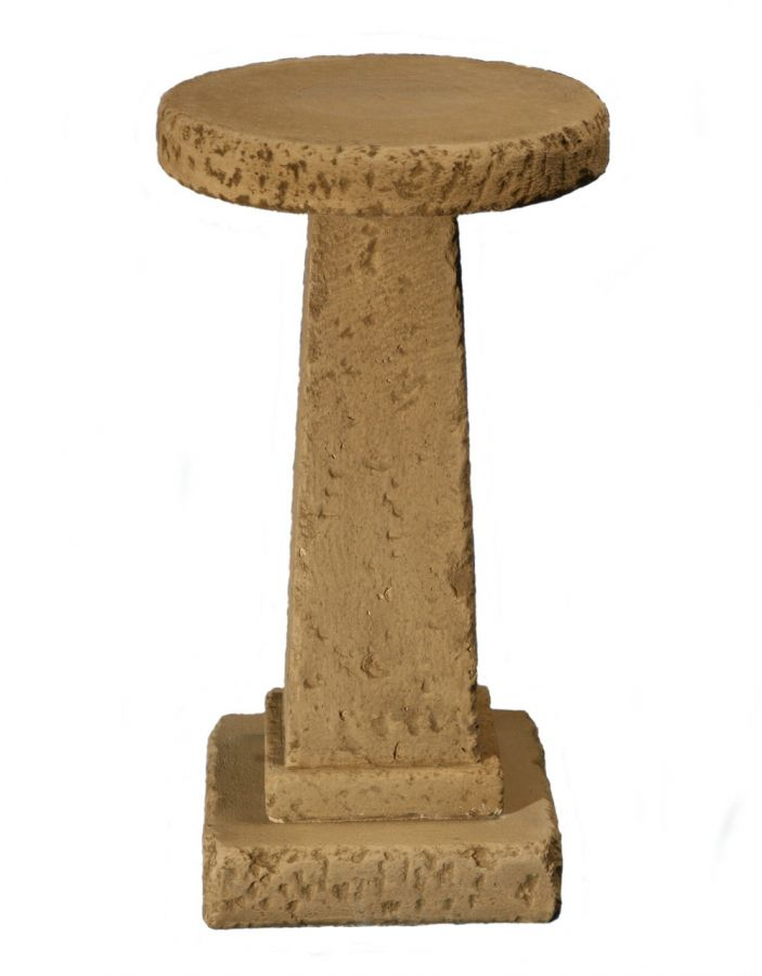Tall Natural Effect Concrete Bird Table H70cm