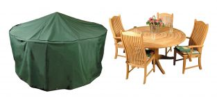 Bosmere Premier 200cm 4-6 Seater Green Circular Patio Set Garden Furniture Cover