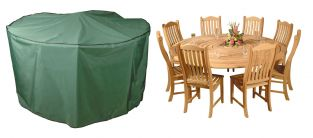Bosmere Premier 250cm 8 Seater Green Circular Patio Set Garden Furniture Cover