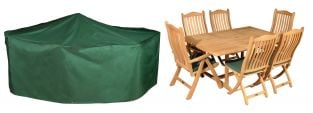 Bosmere Premier 237cm x 200cm 6 Seater Green Rectangular Patio Set Garden Furniture Cover