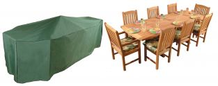 Bosmere Premier 320cm x 130cm 8 Seater Green Rectangular Patio Set Garden Furniture Cover