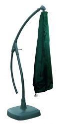 Bosmere Premier Green Free Standing Parasol Cover with Zip H216 x D152cm