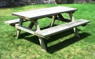 Heavy Duty Large Rectangular Picnic Table