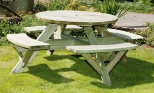Circular Timber Picnic Set