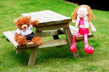 Childrens' Timber Picnic Set