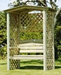 Westbury 1.58m (5ft 2ins) Timber Arbour with Trellis