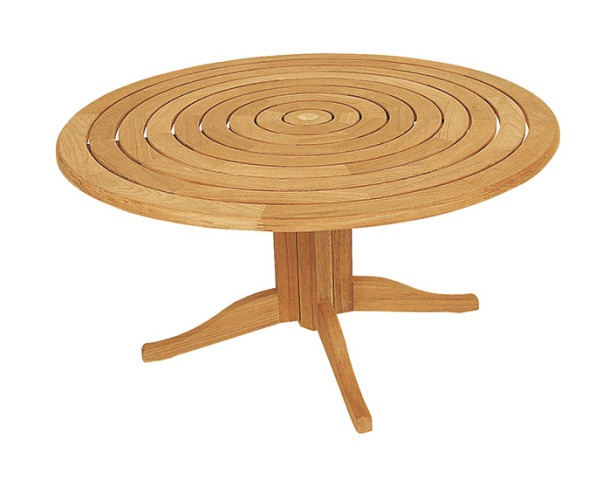 Teak bengal pedestal 150cm round garden table for Round table 99