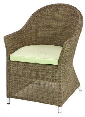 Alexander Rose Monte Carlo Curved Top Rattan Garden Armchair with Cushion