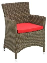 Alexander Rose Monte Carlo Squared Top Rattan Garden Armchair with Cushion