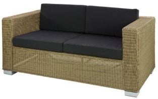 Alexander Rose Monte Carlo Rattan 2 Seater Garden Sofa with Cushion