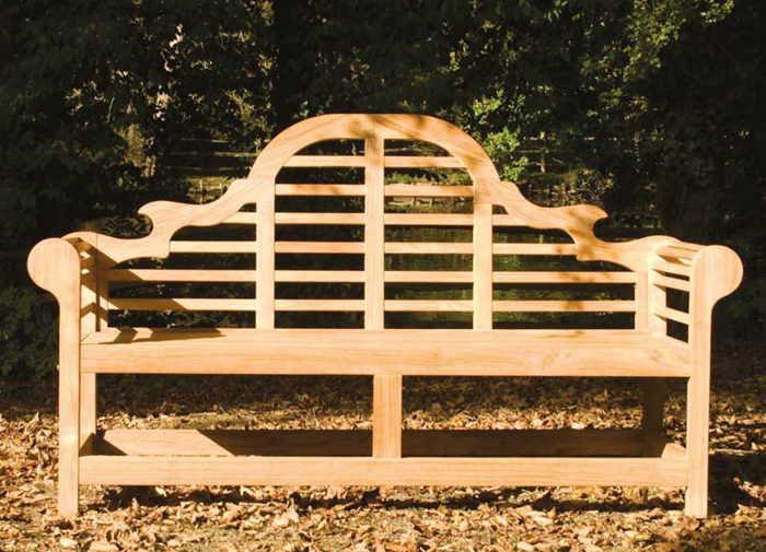 Personalised Alexander Rose Lutyens 1.8m (6ft) Teak Commemorative Memorial Bench
