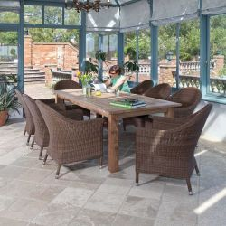 Alexander Rose Reclaimed Teak Rustic Garden Table 2.3m x 1m